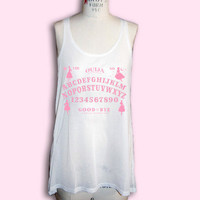OUIJA BOARD long semi-sheer tank