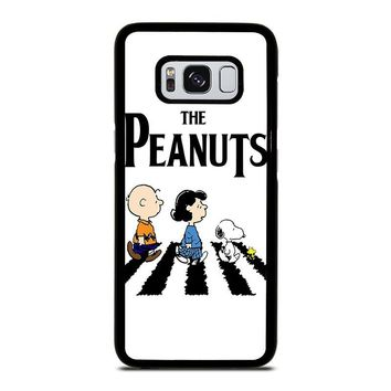 THE PEANUTS SNOOPY CHARLIE BROWN BEATLES Samsung Galaxy S3 S4 S5 S6 S7 Edge S8 Plus, Note 3 4 5 8 Case Cover