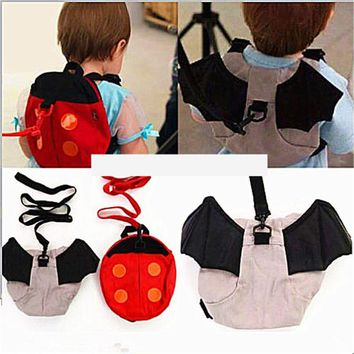 J68 Kintergarden Children Baby Kids Backpacks Keeper Toddler Walking Safety Harness Bag Strap Rein Bat Ladybird Satchel