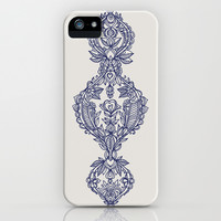 The Ups and Downs of Navy Doodles iPhone & iPod Case by micklyn