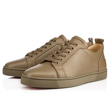 Best Online Sale Christian Louboutin Cl Louis Junior Men's Flat Poivre Vert Calf 13s Shoes 1130548e080