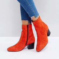 ASOS RUBEN Leather Ankle Boots at asos.com