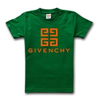 Givenchy Tide brand solid color simple round neck half sleeve T-shirt Green