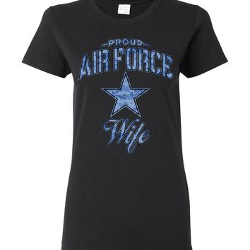 Proud Air Force Wife Women's T-Shirt (Camo)