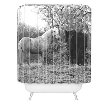 Allyson Johnson Horses Grazing Shower Curtain
