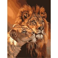The Lion DIY Oil Painting By Numbers Kit - DIY Art Home decor