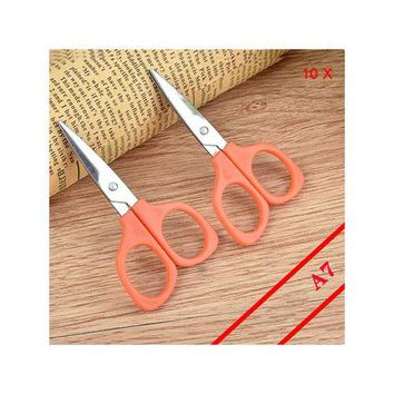 ONETOW 10Pcs/Lot Mini Portable Scissors For Outdoor Or Family First Aid Emergency Kit Supplies And Kid Students Hand Craft Tool
