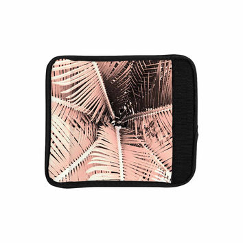 "Suzanne Carter ""Palm-Peach"" Pink Black Luggage Handle Wrap"