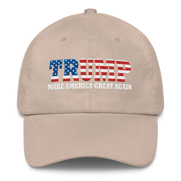 Trump Make America Great Again President 2016 Embroidery Embroidered Classic Cap Hat