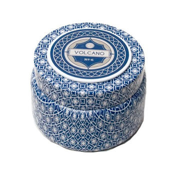 Aspen Bay Capri Blue Volcano Printed Tin Candle - 9 Oz.