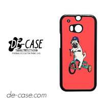 Pug Bicycle For HTC One M8 Case Phone Case Gift Present