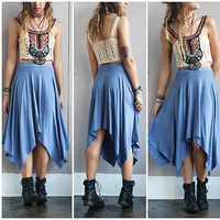 An Asymmetrical Skies Skirt