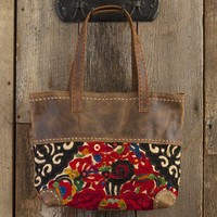 Thai  Vintage  Leather  Tote  From  Natural  Life