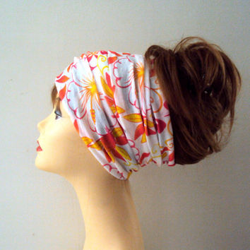 Women Floral Head Band Extra Wide Hair Wrap Yoga Fitness Workout Dancing Beach Tube Bandana Earwarmer Cowl Rasta Dreadlock Accessories