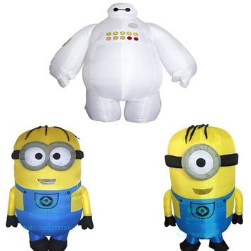 Inflatable Minion and Baymax Costume
