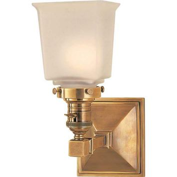 Visual Comfort and Company SL2941HAB-FG Antique Brass Boston Square One-Light Fixture