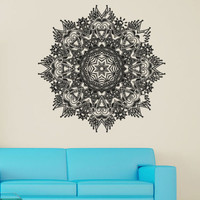 Wall Decal Vinyl Sticker Mandala Ornament Ganesh Indidan Pattern  Yoga  r1365