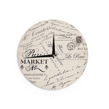 "Sylvia Cook ""French Script"" Handwriting Wall Clock"