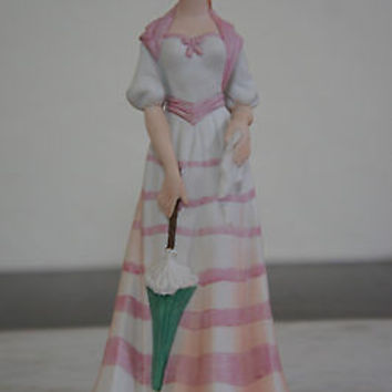 "Rare Lefton China Hand Painted 1950's ""Gibson Girl"" Figurine No. KW2623 Japan"