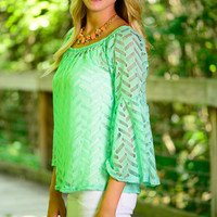 In The Valley Blouse, Mint