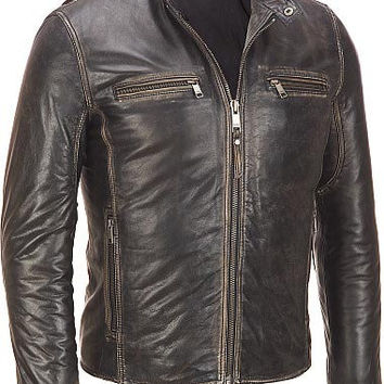 Men leather jacket, men brown shaded leather jacket, pure leather jacket for men, mens motorcycle leather jacket