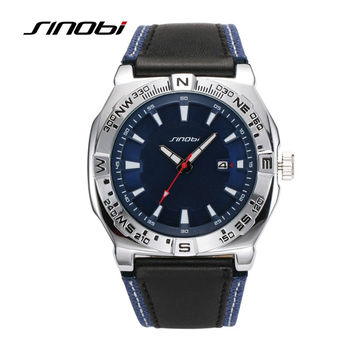 Casual Water Resistant Sports Leather Wrist Watch