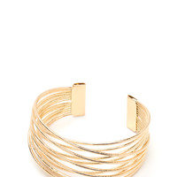 Wrap Superstar Overlapping Wire Cuff