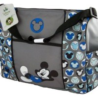 Mickey Mouse Gray Large Diaper Bag Tote