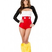 J Valentine Women's Sexy Mouse Costume L Multi
