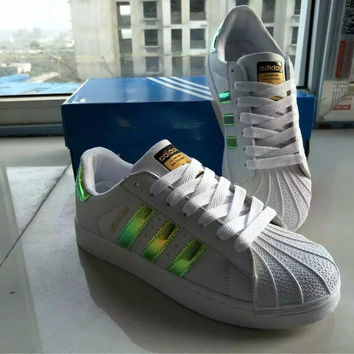 """Adidas"" Fashion Casual Unisex Small White Shoes Couple Shell Head Plate Shoes Sneakers"