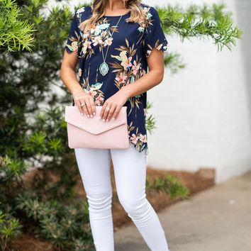 Sweet Intentions Top, Navy