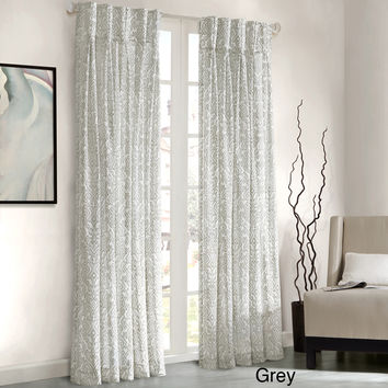 Madison Park Amari Damask Pattern Window Panel Curtain | Overstock.com