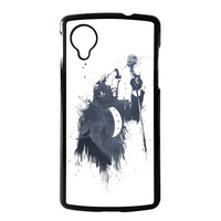 Wolf Song 3 Hard Plastic Case Black for Google Nexus 5 by Balazs Solti