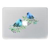 Blue bird couple Vinyl Decal Notebook sticker on Laptop Sticker For Apple Macbook Pro Air 11 13 15 inch Laptop Skin