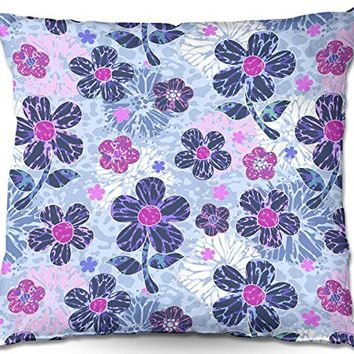 Decorative Outdoor Patio Couch Throw Pillows from DiaNoche Designs BBQ Garden Outdoor Ideas by Julia Grifol Flowers Mix II