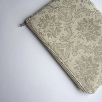 Linen damask MacBook Air 11 sleeve with zipper, MacBook Air 11 case, MacBook Air 11 Cover, Laptop Sleeve Cover Case, MacBook case