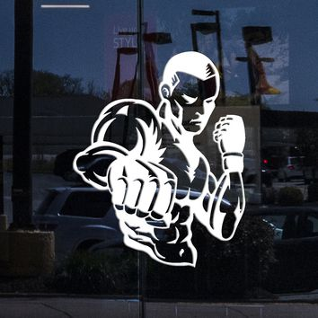 Window Sign Wall Stickers Vinyl Decal MMA UFC Cage Figther Martial Arts Unique Gift (z1959w)