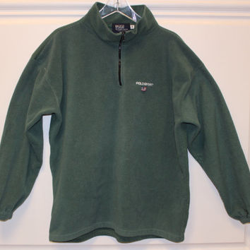 Vitnage // Polo by Ralph Lauren //  Polo Sport // Made in USA // Fleece Pullover // Half Zip // Green // Medium
