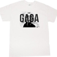 KINGS OF NY LADY GAGA T SHIRT MUSIC WHITE TSHIRT BORN THIS WAY ALBUM CONCERT LA