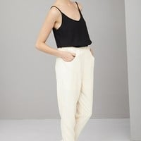 Black & Cream Tapered Jumpsuit | Playsuits & Jumpsuits