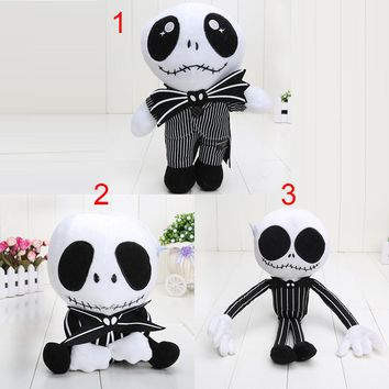 15-35cm The Nightmare Before Christmas Jack Plush Toy Cute Skull Jake Stuffed Soft Dolls Great Gift
