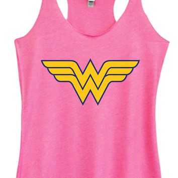 Womens Tri-Blend Tank Top - Wonder Woman