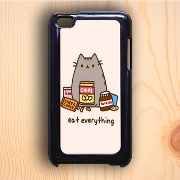 Dream colorful Pusheen The Cat Eat Everything iPod Touch 4th Generation Case