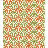 Summer Decor Green and Orange Outdoor Rug