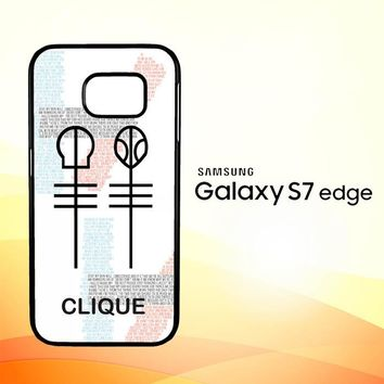 Twenty One Pilots Skeleton Clique X3438 Samsung Galaxy S7 Edge Custom Case