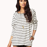 French Terry Striped Top | FOREVER 21 - 2057526798
