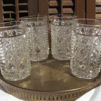 Windsor Federal Drinking Glasses Vintage Clear Tumblers