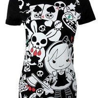 Cosmic Evil Alice Ladies Black T-Shirt - Buy Online at Grindstore.com