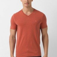 Lacoste Short Sleeve Overdyed Chine V-neck Vintage Wash T-shirt : Fall Preview