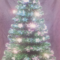 Rockefeller Christmas Tree Collection 4' Artificial Fiber Optic Lighted Christmas Tree with 110 Tips, 24 Ornaments and 1 Star Topper